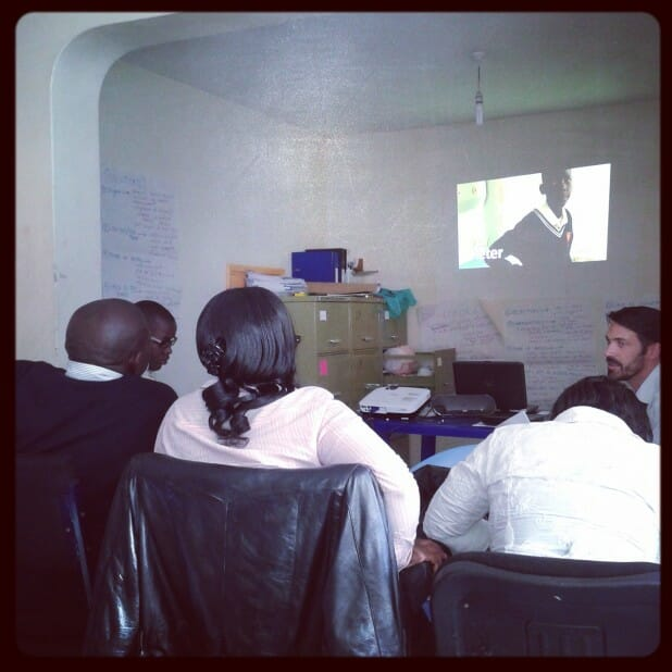 training my team to use videos with patient stories for HIV disclosure counseling