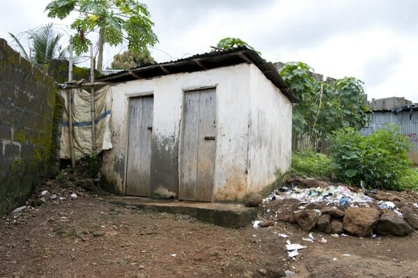 Latrines at National Islamic Primary School, Up Town Bar Community, Sierra Leone