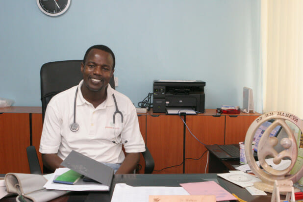 Dr. Mabeya, photo from Direct Relief.