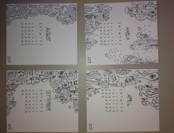 doodle calendar close