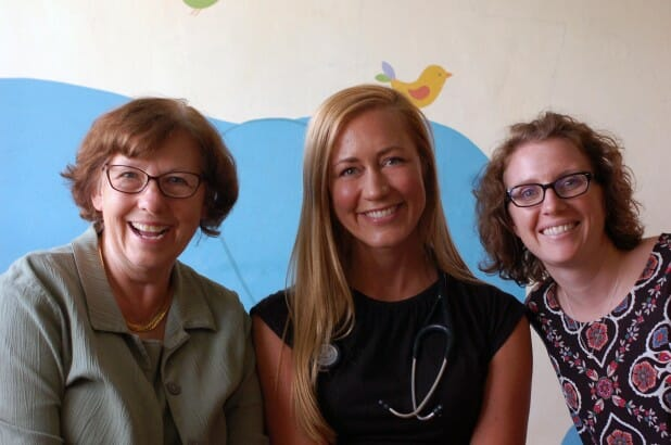 Our team at Kimbilio this week. Visiting developmental pediatrician (and legend), Marilyn Bull; me, and Juli.
